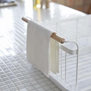 水切りバスケット トスカ ホワイト【キッチン収納/おしゃれ】の持ち手利用画像