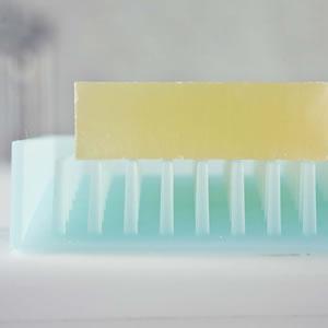 水切りソープトレイ フロート【洗面所/バスルーム】ブルーの詳細画像2