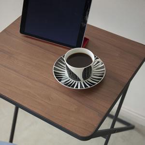 折り畳みテーブル タワー【リビング/ソファ】ブラックの詳細画像