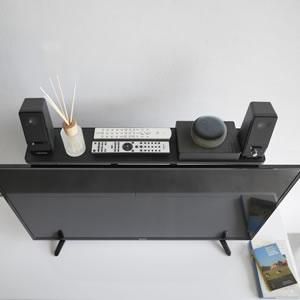 薄型テレビ上ラック スマート【リビング収納/おしゃれ】ブラックの使用画像