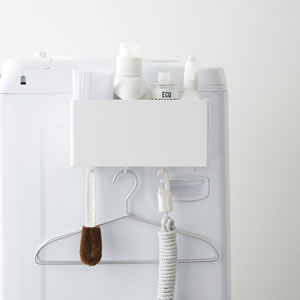 マグネットストレージバスケット タワー【キッチン収納/おしゃれ】ホワイトの使用詳細画像