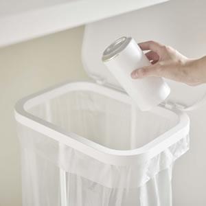 横開き分別ゴミ袋ホルダー ルーチェ【キッチン収納/おしゃれ】ホワイトの詳細画像