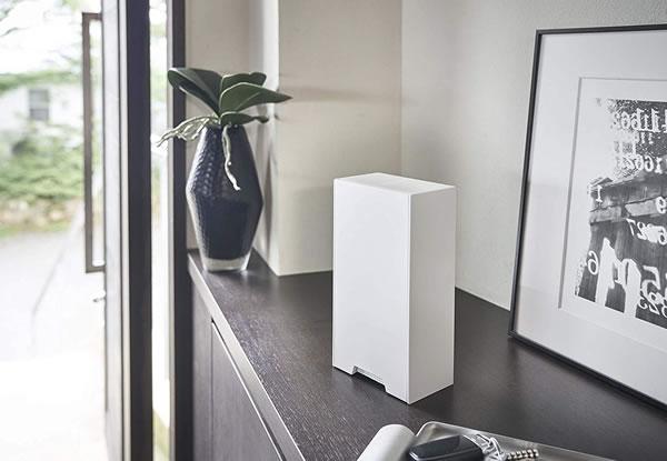 ツーウェイマスク収納ケース タワー【コロナ対策/収納/おしゃれ】ホワイトの使用画像