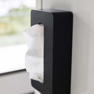 マグネットコンパクトティッシュケース タワー【キッチン収納/おしゃれ】ブラックの使用詳細画像