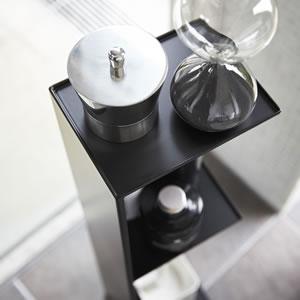 スリム トイレラック タワー【トイレ収納/おしゃれ】ブラックの詳細画像