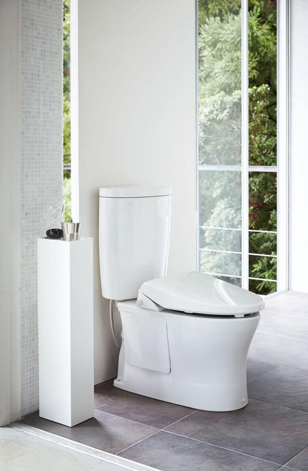 スリム トイレラック タワー【トイレ収納/おしゃれ】ホワイトの展示画像